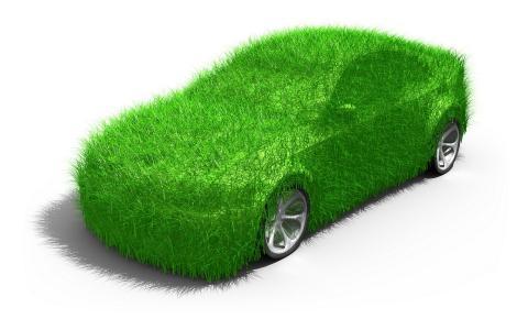 汽车,现代,绿色,草