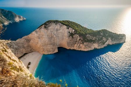 沉船,Navagio海滩,扎金索斯,扎金索斯,爱奥尼亚群岛,希腊