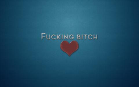 爱邪恶,心脏,蓝色背景