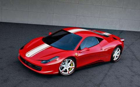 法拉利,法拉利,Wheelsandmore,意大利,2011年,红色,458