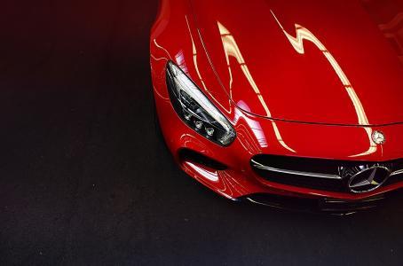 奔驰,红色,超级跑车