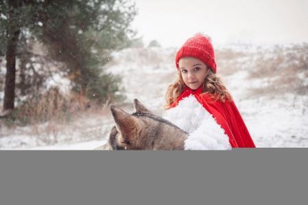 狗,朋友,冬天,女孩,哈士奇