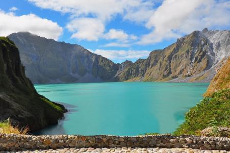 菲律宾,湖,山,天空,美丽