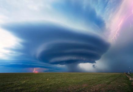 风暴,闪电,危险,美丽,旋风