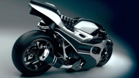 3d,摩托车,形状,车轮,小号,音量,美女