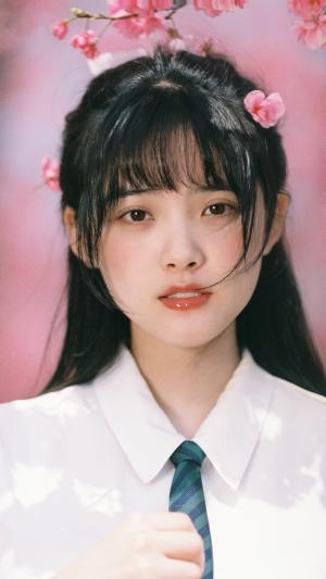 桃花jk制服美少女