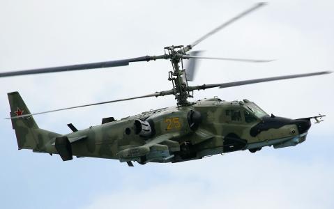 卡莫夫,卡-50,飞行,刀片,黑鲨,直升机