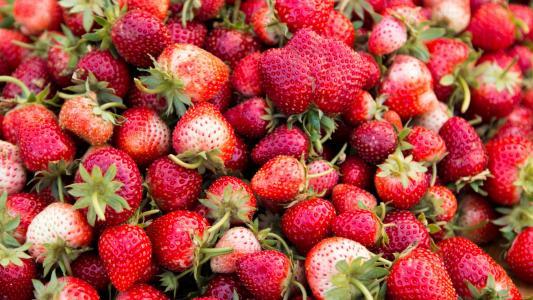 香甜诱人的草莓
