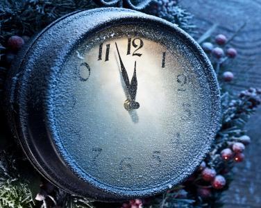 小时,冬天,新年,积雪,积极