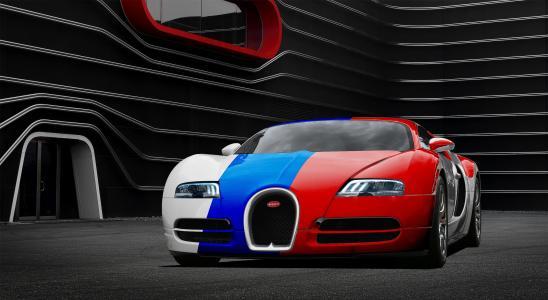 布加迪,超级跑车,调整,黑暗的背景
