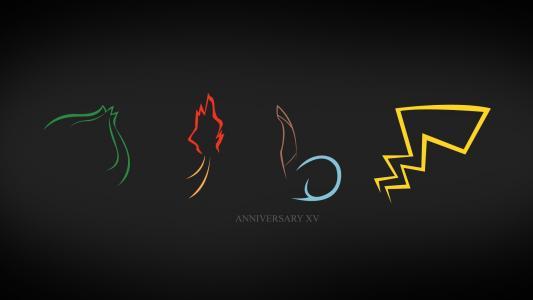 口袋妖怪尾巴,Bulbasaur,皮卡丘,squirtle,charmander火,口袋妖怪