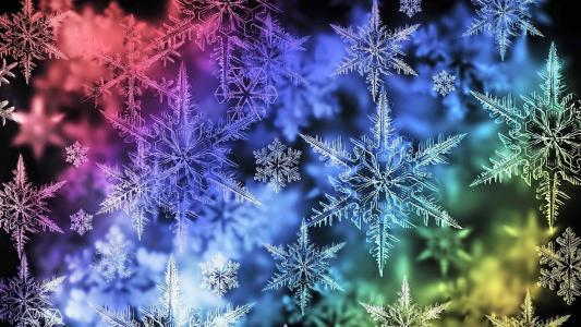 圣诞节,新年,光谱中的雪花,纹理