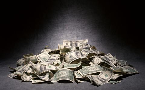 美元,钱,账单,钱,背景,一堆面团,美元