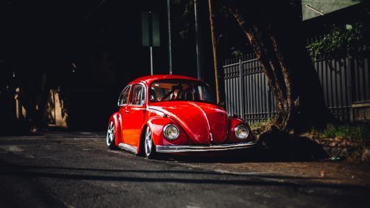 红色,大众,晚上