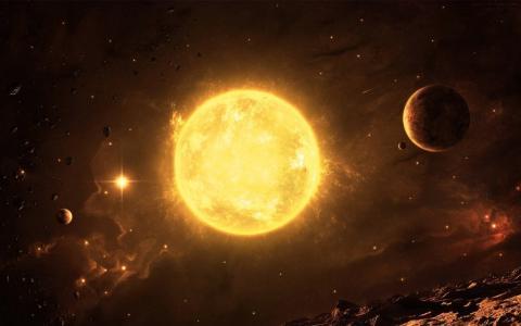 空间,明星,行星,小行星救济