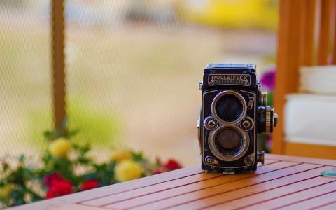 rolleiflex,表,照相机
