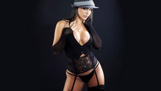 帽子,女孩