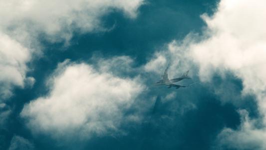 飞机,飞行,天空,云