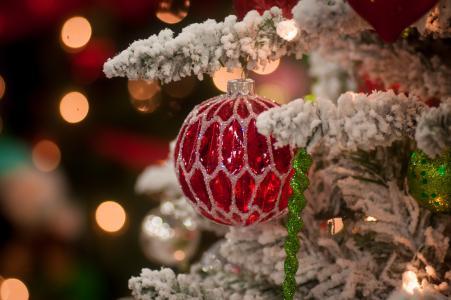 圣诞树,冰柱,玩具,球