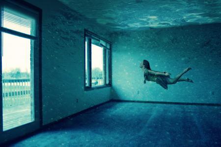 想象力,游泳,窗户,大房间,空间