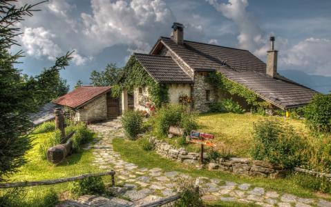 阿尔卑斯山,酒店,蒙蒂科米诺,瑞士