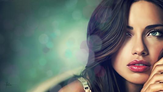 脸,模特儿,女孩,艺术,阿德里亚娜利马