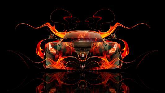托尼·科汉,法拉利,拉费拉里,火,车,橙色,黑色,摘要,混合,埃尔托尼汽车,Photoshop,高清壁纸,设计,艺术,风格,托尼Kohan,Photoshop,风格,摘要,法拉利,
