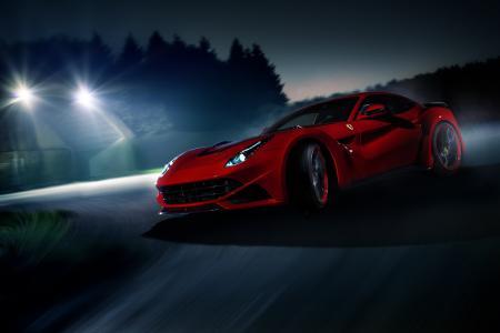 法拉利,超级跑车,红色,英俊,照片,晚上,跟踪,比赛,速度,美丽