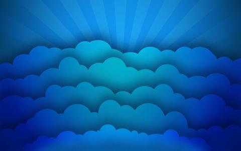 云,极简主义,光线,纹理