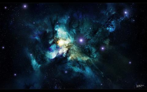 ,空间,星云,艺术,星云