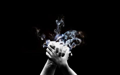 握手,飞溅,灰尘