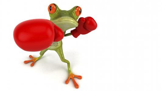 免费的青蛙3d,青蛙,图形,拳击,手套
