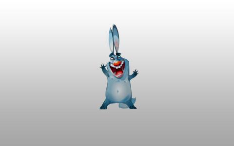 快乐,兔子,兔子,蓝色,兔子