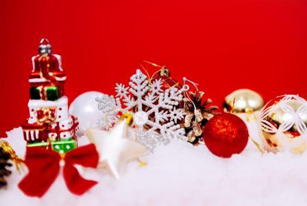圣诞雪花元素背景图