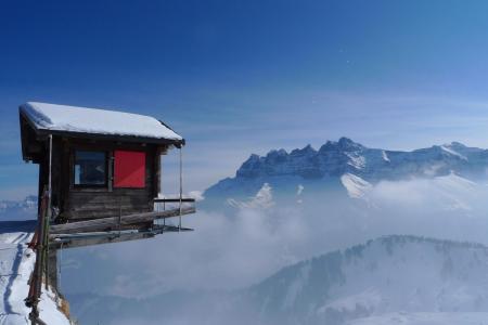 极端,房子,山,自然,印度