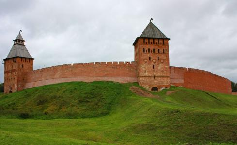 俄罗斯,伟大的诺夫哥罗德,城市,古城,克里姆林宫,detinets,塔,壁纸