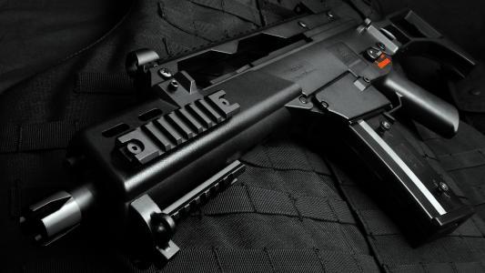 黑色,英国g36,透视,自动,防弹衣