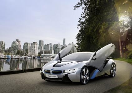 宝马,概念,汽车,混合动力