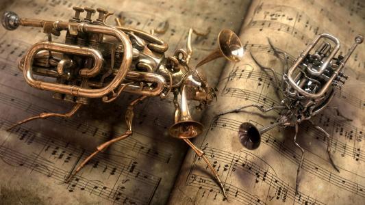 乐器,乐器,笔记本