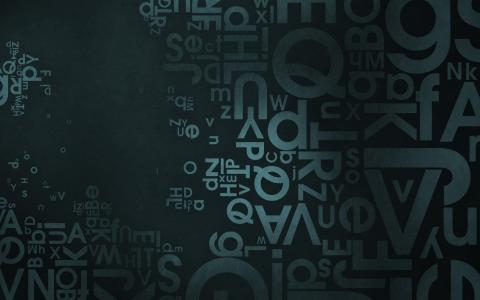 混沌,字母,英文