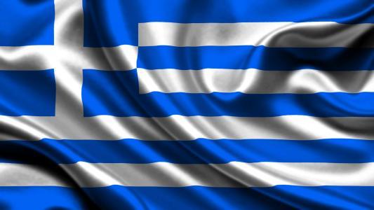 希腊,国旗,3d,希腊,国旗