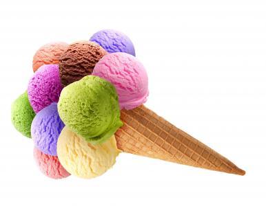 糖果,冰淇淋,球,美味