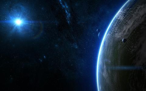 大气,太阳,行星,卫星,星座,星星