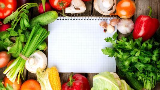 蔬菜,记事本