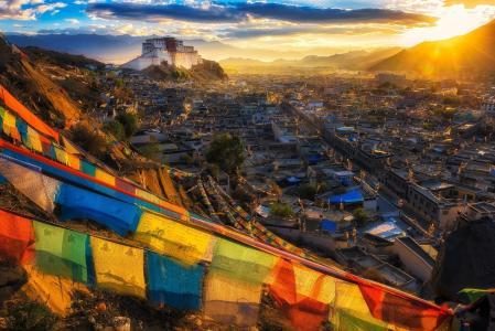 西藏,修道院,寺庙,拉萨