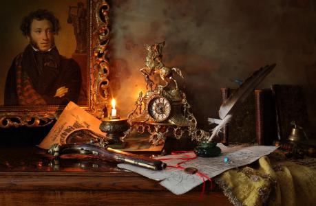 普希金,书籍,手表,手枪,历史,文学,手稿,安德烈莫罗佐夫