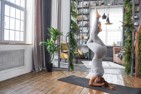 女孩,健身,图,运动,照片,公寓