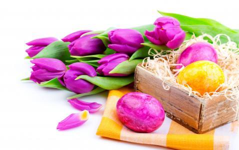 鲜花,郁金香,复活节,春天,丁香,假期