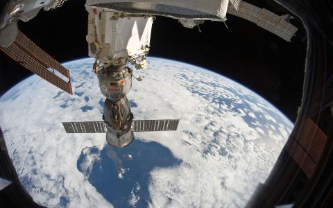 表面,联盟,窗口,地球,站,飞行,轨道