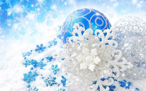 雪花,新的一年,玩具,雪